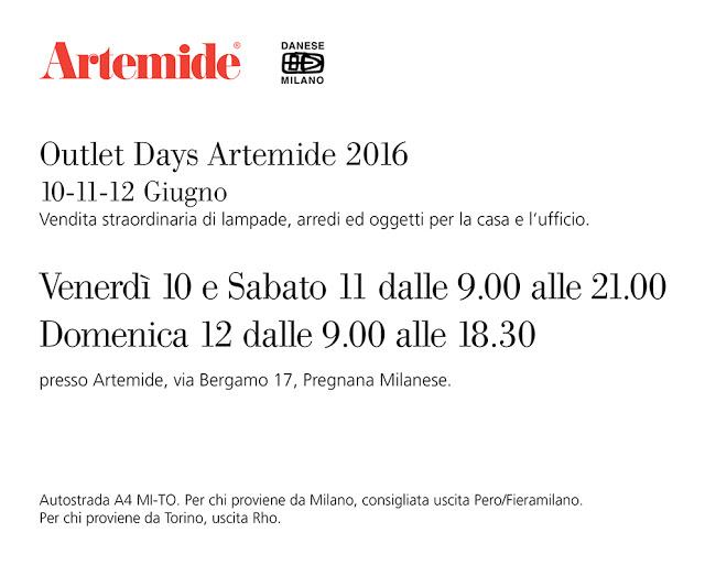 Artemide outlet days 2016 - Outlet artemide ...