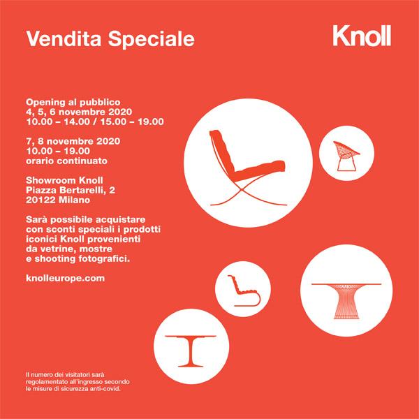 Knoll_save the date_ Vendita Speciale_4-8 Novembre 2020-designxall