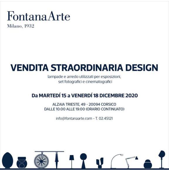 Vendita Straordinaria Fontana Arte-dicembre2020